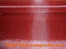 Карбон-кевлар красный