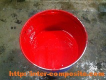 Полиэфирный гелькоут красный