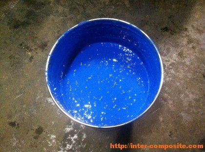 Полиэфирный гелькоут синий