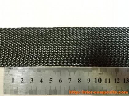 Лента углеродная плетеная 50мм