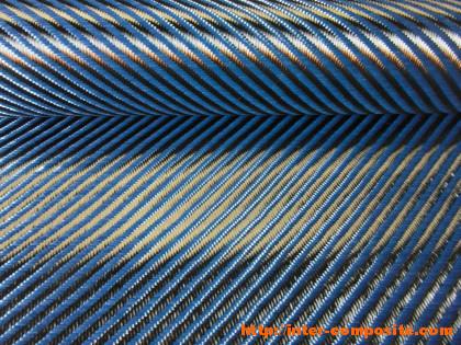 Карбон-кевлар синий 3К 4х4