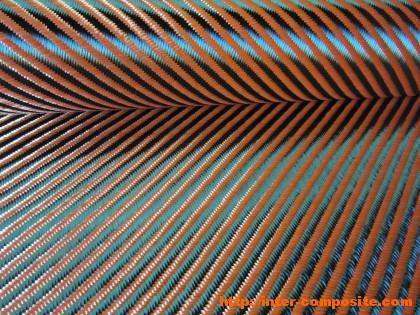 Карбон-кевлар оранжевый 3К 4х4