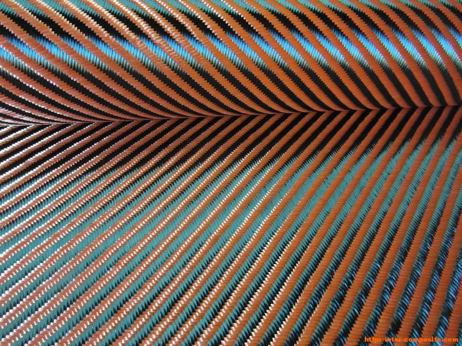 Карбон-кевлар оранжевый 3К 4х4 купить по низкой цене